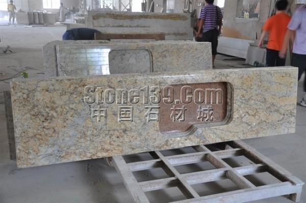 金钻花麻台面工程板_图片-中国石材网