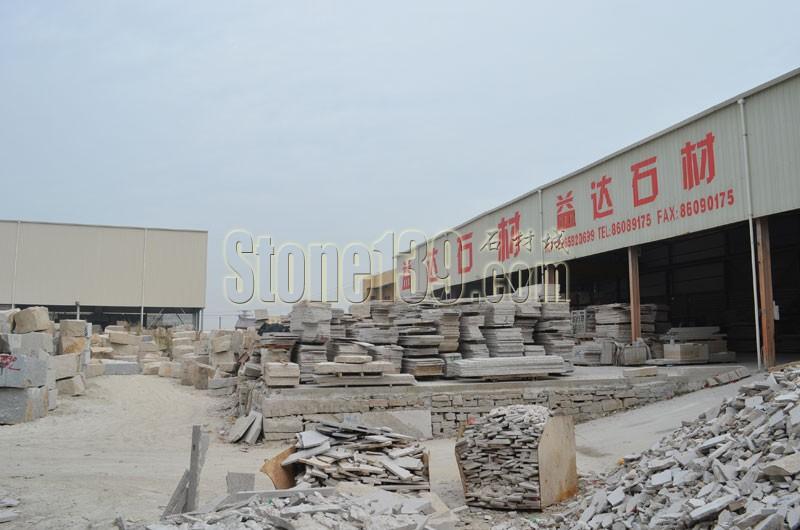石材加工厂厂内一角实景图拍图片