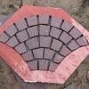 寿宁红石材扇形地铺石