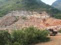 广西万福石业大理石矿山荒料图片