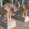 大象雕刻石材 一对配套