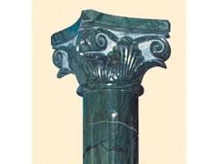 印度绿色石材罗马柱-- 芸兴石材