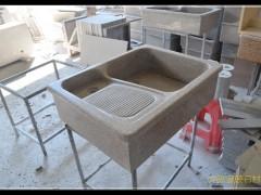 石材一体洗衣池带搓衣板