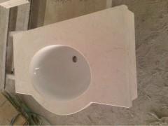 大理石洗手台面 半弧形台下盆-- 成云石材装饰工程有限公司