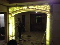 室内透光玉石拱门装饰-- 成云石材装饰工程有限公司