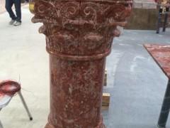 紫玉红罗马柱雕刻-- 奥盾石材有限公司