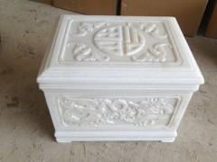 白色玉石石棺-- 山东嘉祥县福群石材加工厂