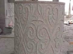 湖北黄麻浮雕表面加工圆柱-- 湖北随州市万和吉祥异形石材厂