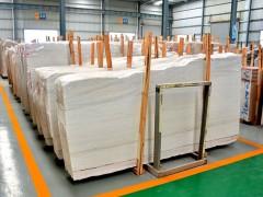 水头福山工业区德恒大板市场雪花白、美国米黄现货供应