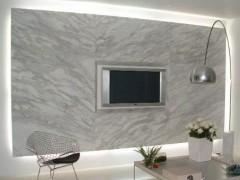 家装白色大理石电视背景墙装饰