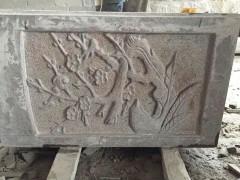 花岗岩护栏板 梅花图案