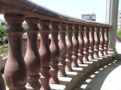 幻彩红护栏栏杆