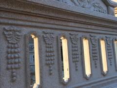 花岗岩全石材别墅围墙 镂空效果 带浮雕