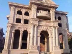 别墅外墙石材全套供应 柱子 拱门 窗户线条 栏杆