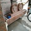 红色石材景观石 水车雕刻产品