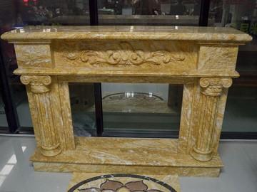 金色大理石石材壁炉