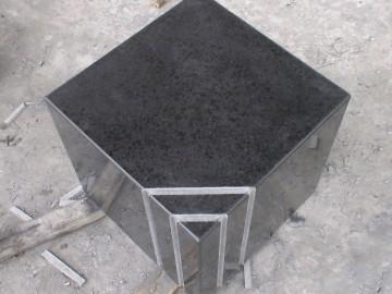 福鼎黑正方体成品 表面磨光带拉槽