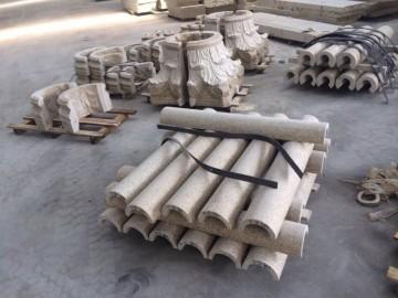 随州黄麻圆柱供应 空心柱 柱帽配套-- 湖北随州市万和吉祥异形石材厂
