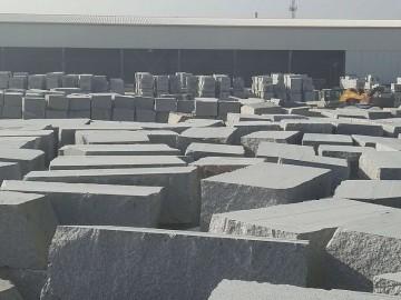 芝麻白芝麻灰花岗岩荒料 工厂现货