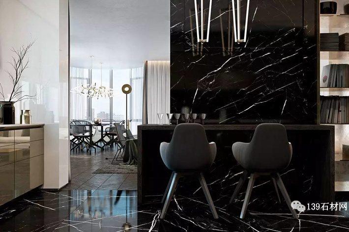 石材高级黑装饰典范 黑白根应用案例效果欣赏