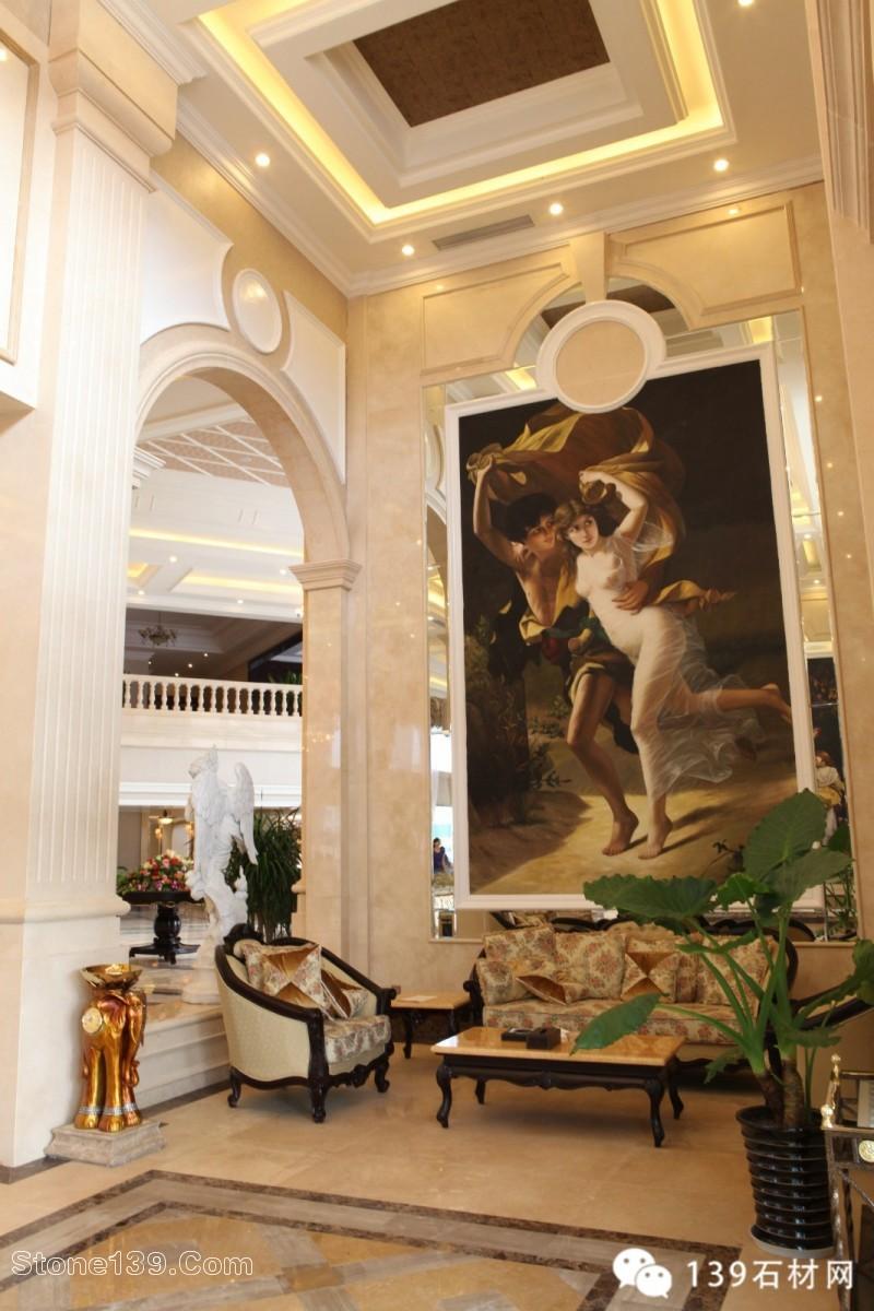 高端大气的欧式风格售楼中心装饰案例赏析-石材装饰