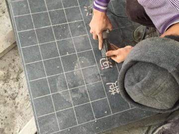芝麻黑 中国象棋棋盘雕刻