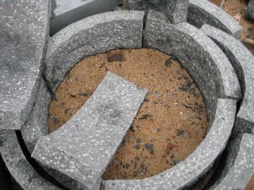 圆弧形树池石材 长泰灰麻厂家供应 承接园林石材工程订单