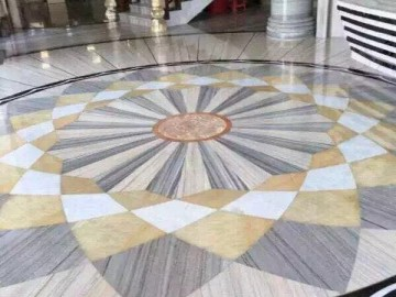 水晶木纹大理石地板拼花