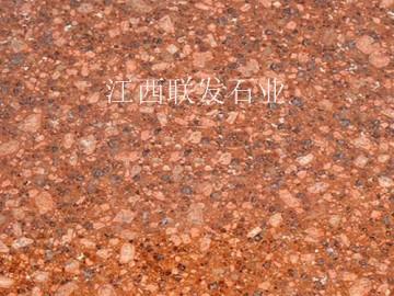 江西石材厂映山红富贵红光泽红火烧板荔枝板光板石材加工生产