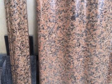 桂林红桂林浅红花岗岩仿形 线条 磨光效果