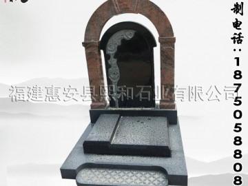 花岗岩墓碑石大量批发 惠安石雕墓碑加工厂加工定做各种款式