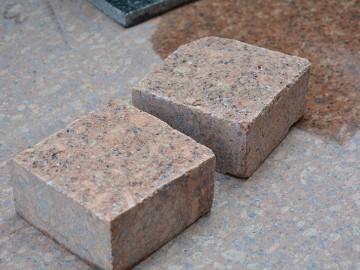 映山红石材小方块