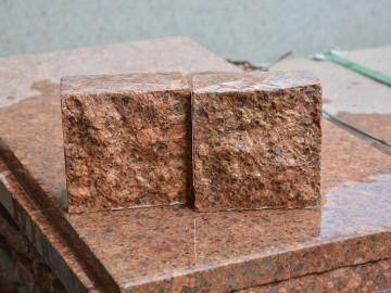 映山红石材自然面小方块样品