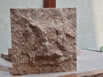 映山红花岗岩蘑菇石样品