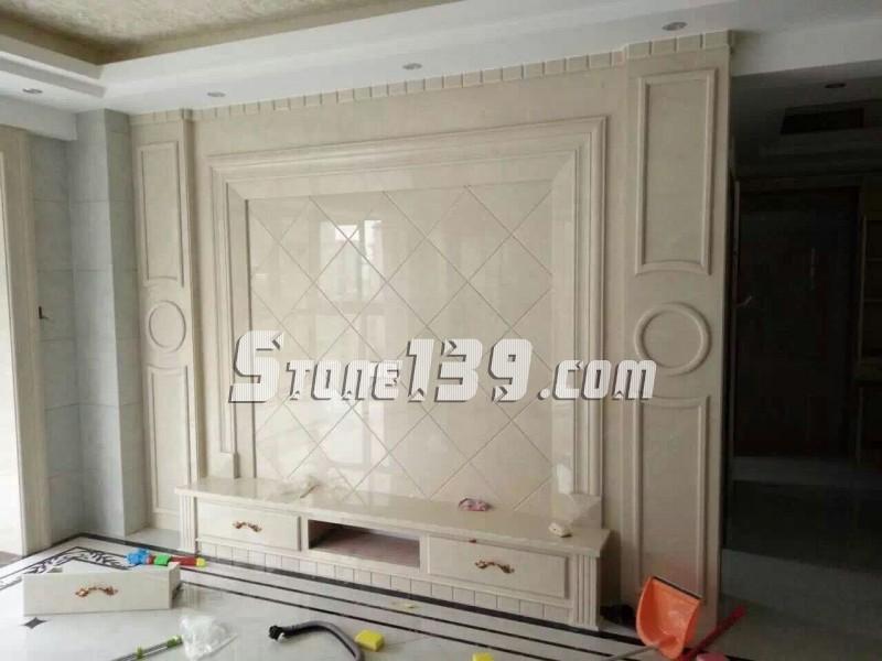 水头九龙石业专注石材电视背景墙装饰设计安装一体化服务