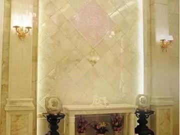 玉石客厅菱形格子背景墙