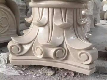 大理石罗马柱柱头 柱帽