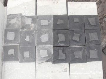 蒙古黑与中国红蘑菇料 墙石马蹄石 地铺石料