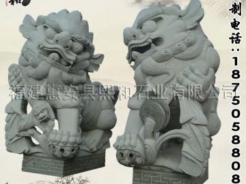 老石雕狮子 仿古石狮子厂家低价直销 惠安石雕狮子厂家