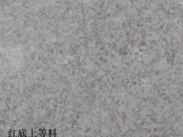 珍珠白石材(红底)磨光面
