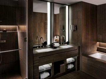 奥巴马木纹石材卫生间装饰-- 厦门源德石业有限公司