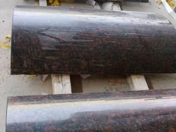 英国棕弧形板 英国棕花岗岩圆柱