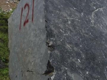 海贝灰大理石荒料