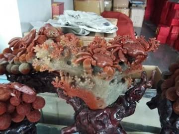 珊瑚玉雕家装工艺品