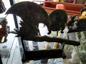玉雕精品摆件 月亮斧