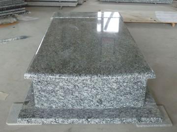 浪花白墓碑石 配套-- 广西博白县石海洋石材二厂