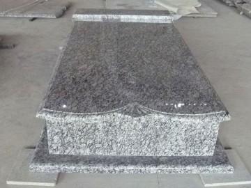 广西浪花白花岗岩墓碑石配套