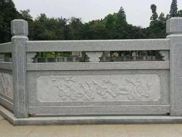 麻石花岗岩护城河栏杆