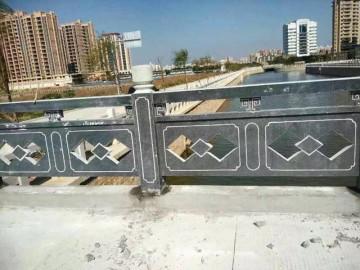 黑青石栏杆 仿古桥栏杆