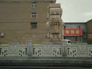 城市道路护栏石 石雕景观